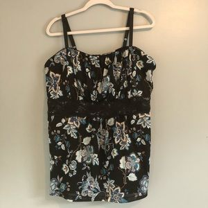Torrid Baby Doll Style Floral Print Sleeveless 3X